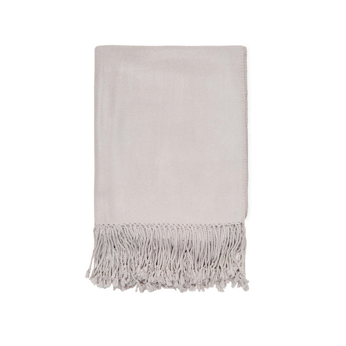 Dove Grey Bamboo Luxury Nursery Throw
