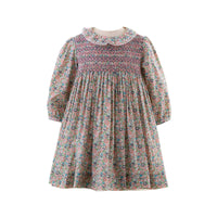 Frill Floral Smocked Dress & Bloomers