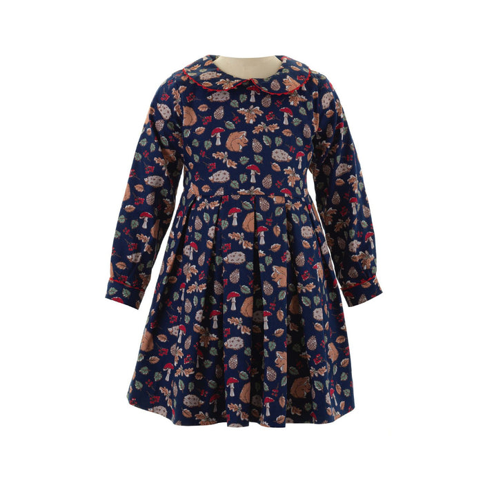 Navy Woodland Dress