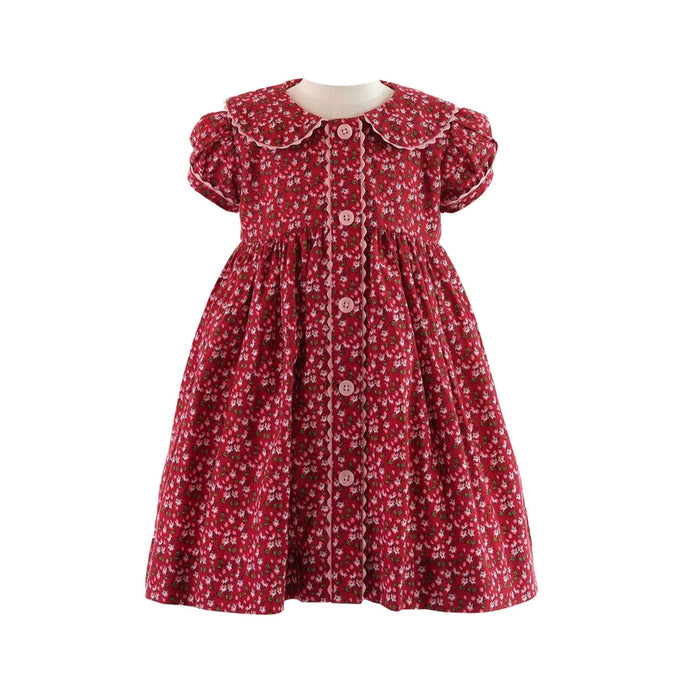 Ditsy Floral Button Front Dress