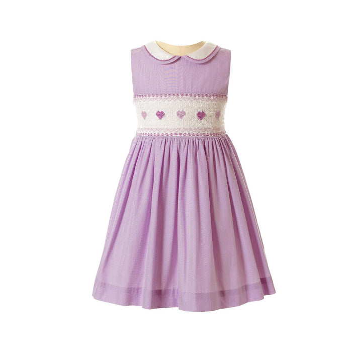 Lilac Heart Smocked Dress