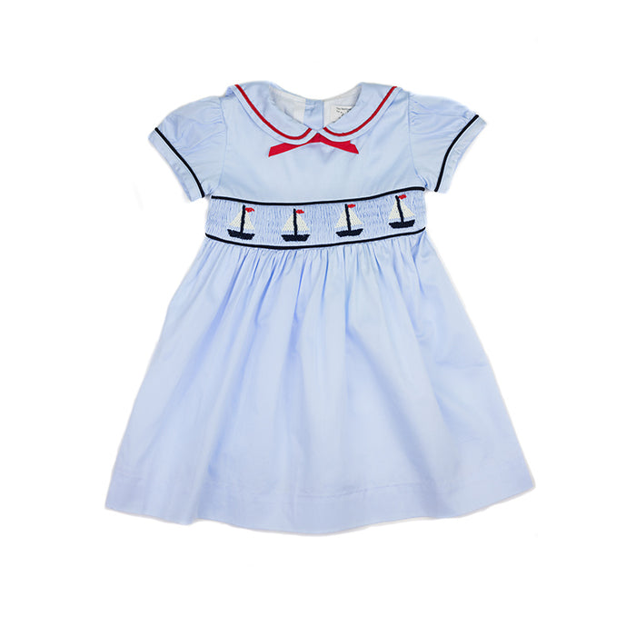 Smocked Sailboat Dress