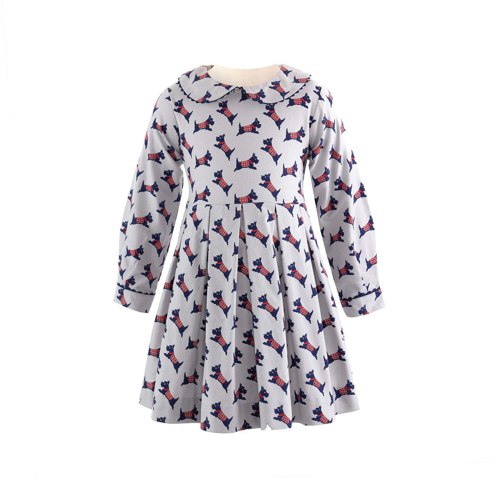 Scottie Dog Pleat Dress
