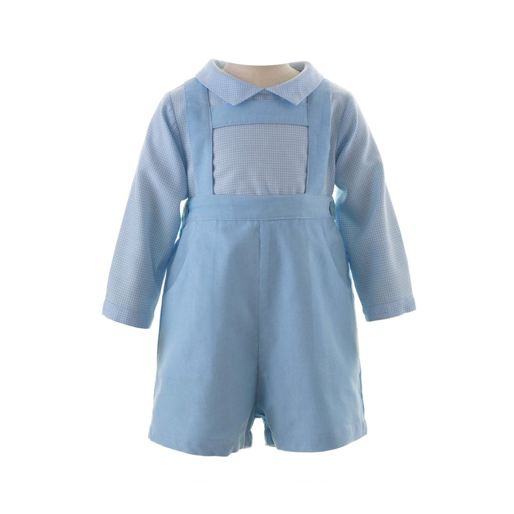 Blue Babycord Shorts Set