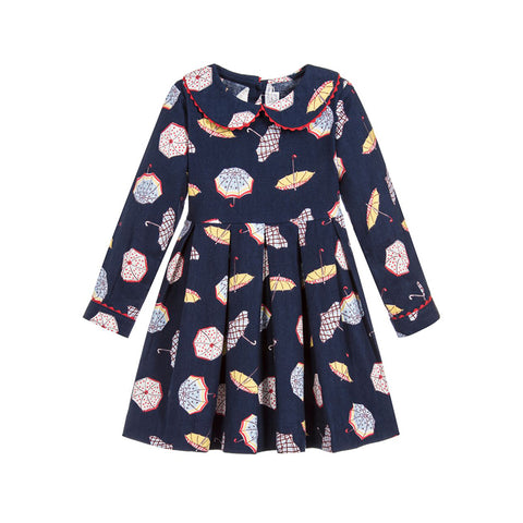 Peter Pan Collar Umbrella Dress