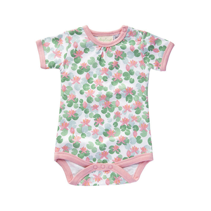 Floating Lotus Short Sleeve Bodysuit