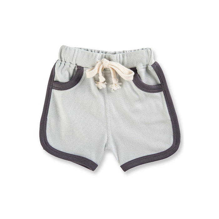 Grey Drawstring Shorts
