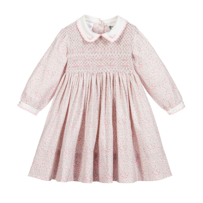 Tiny Pink Flowers Smocked Dress