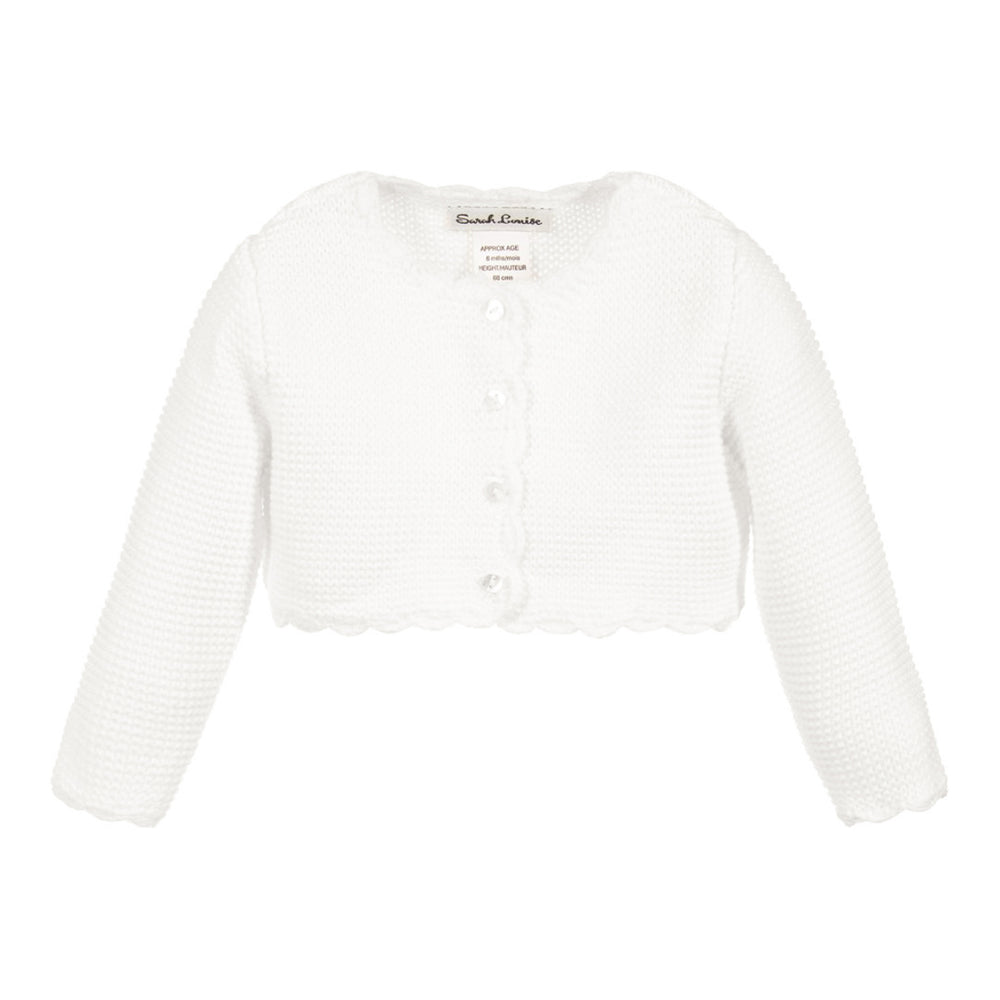 Scalloped Bolero White Cardigan