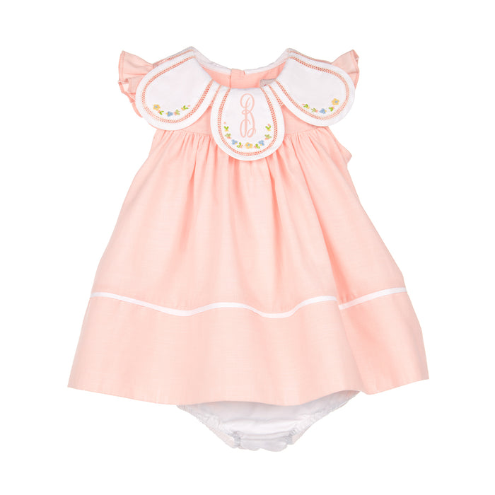 Peach Summer Tea Petal Float Dress