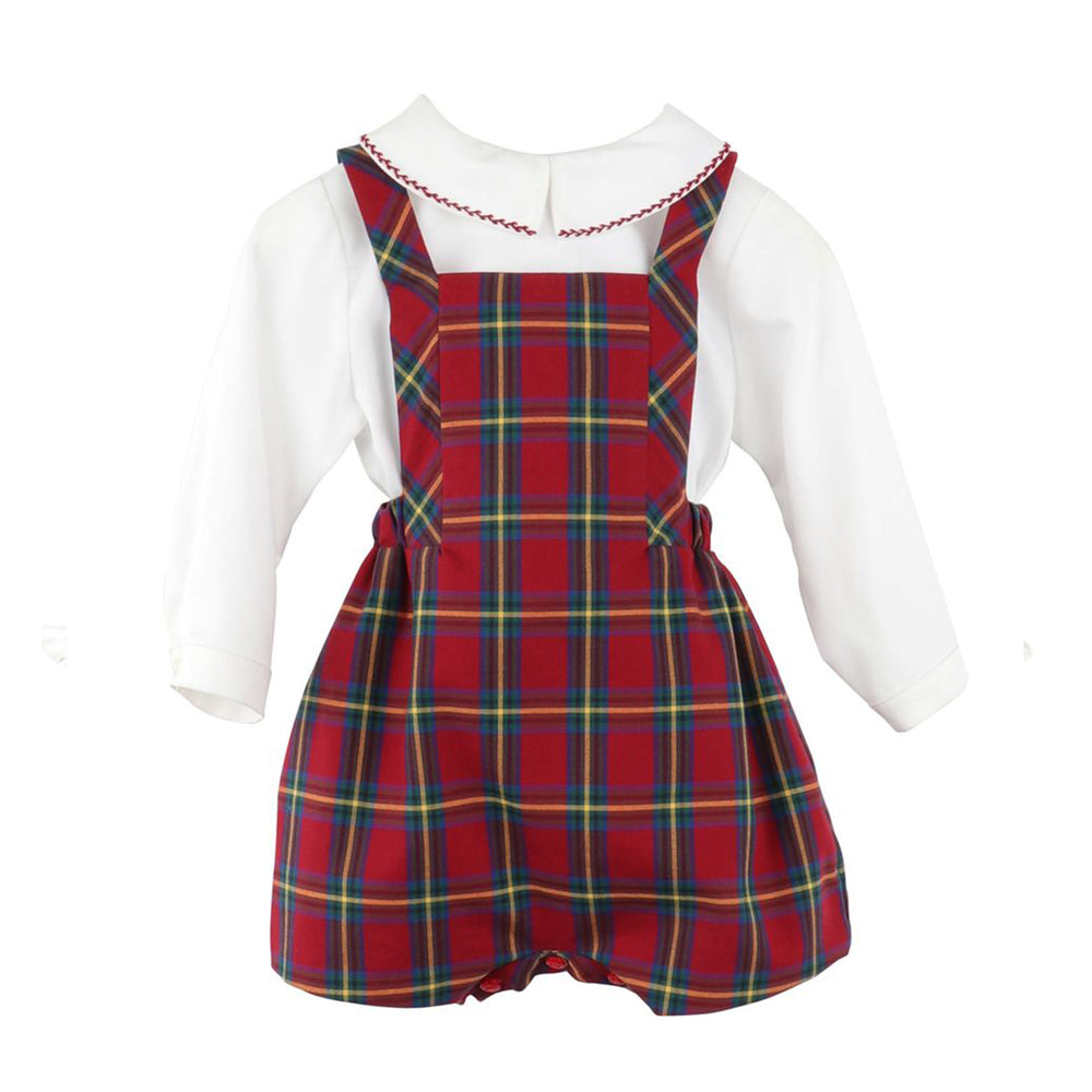 Cranberry Tartan Two Piece Overall