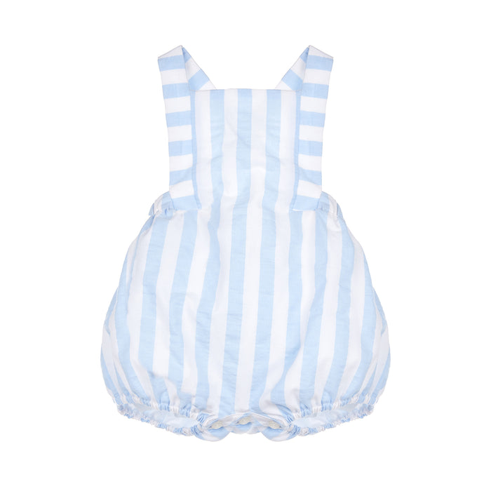 Sunny Blue & White Stripe Boy Sunsuit