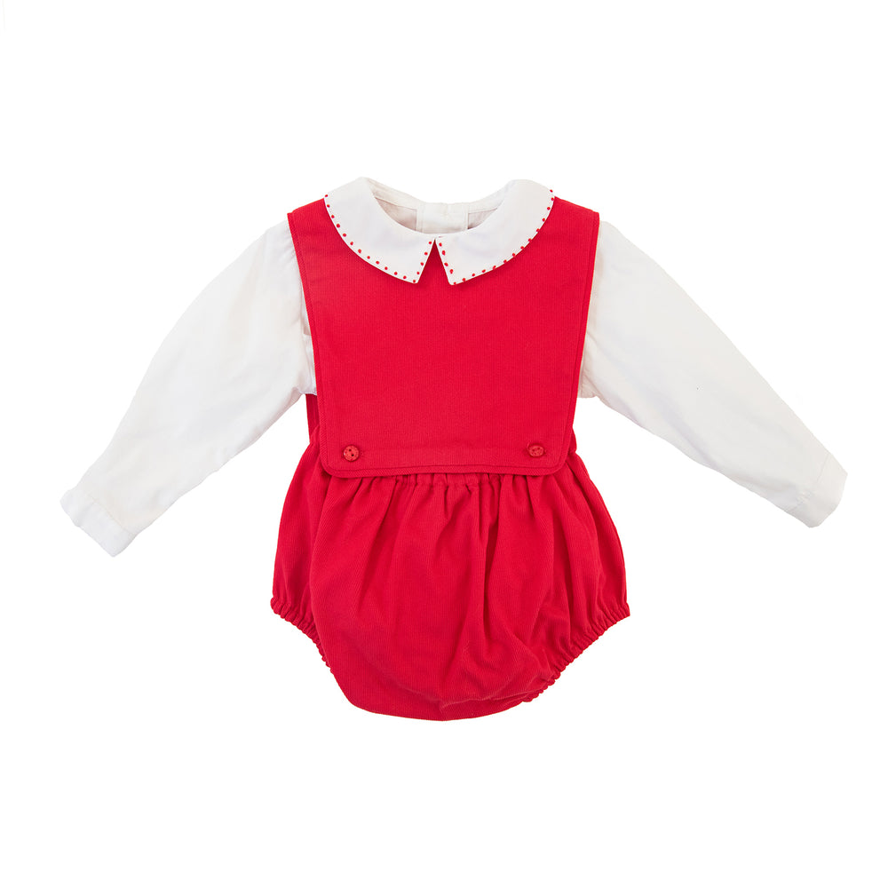 Boy's Red Overall