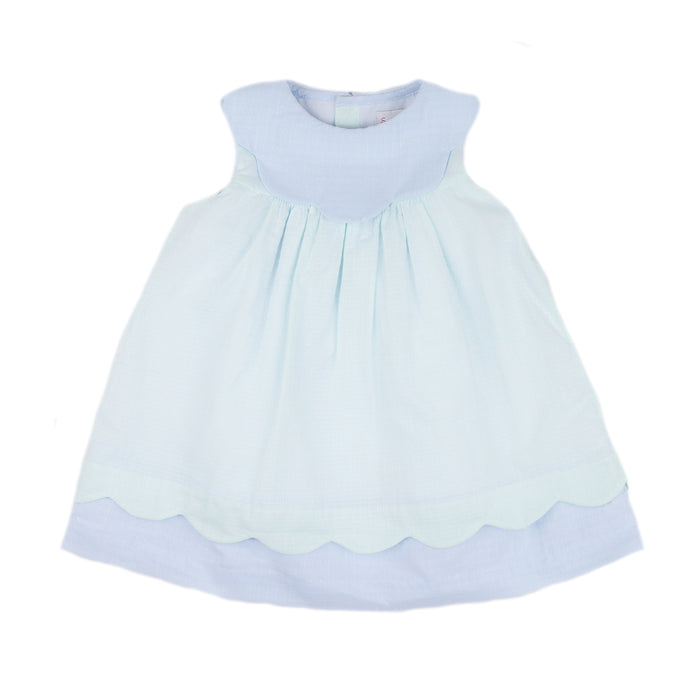 Sherbert Blue Scallop Dress