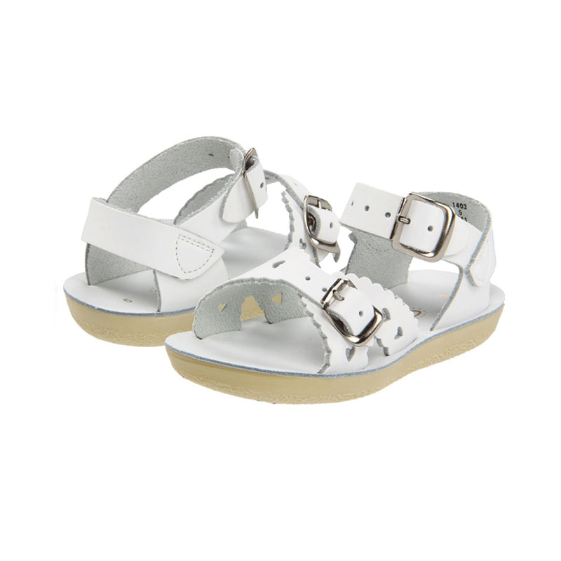 White Sweetheart Sandals