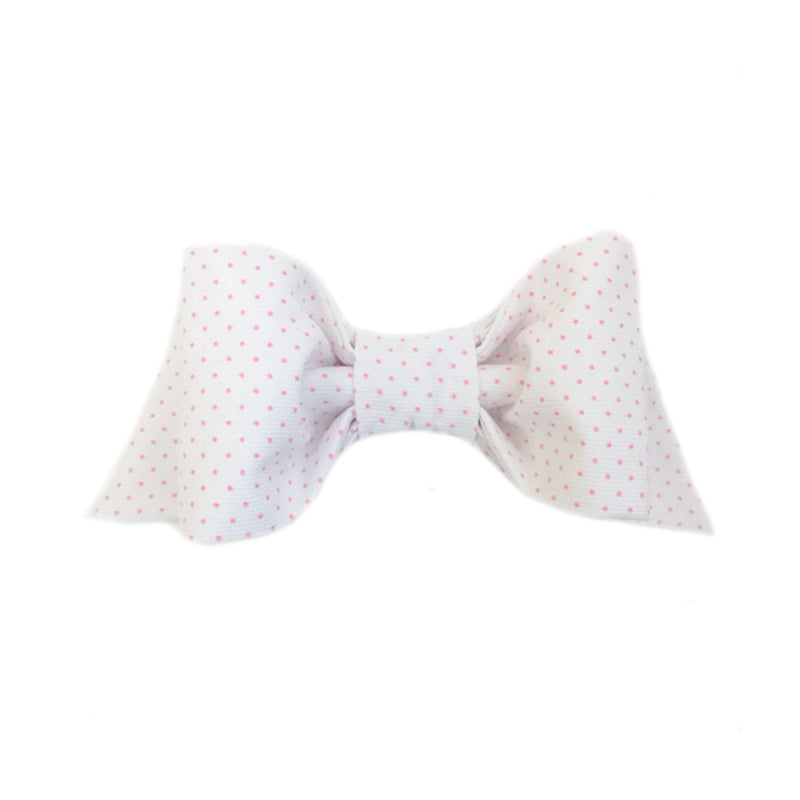 Pink Polka Dot Hair Bow