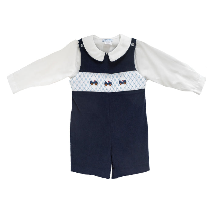 Smocked Speedster Shortall Set