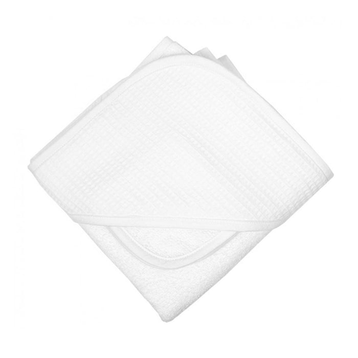 White Seersucker Hooded Towel Set