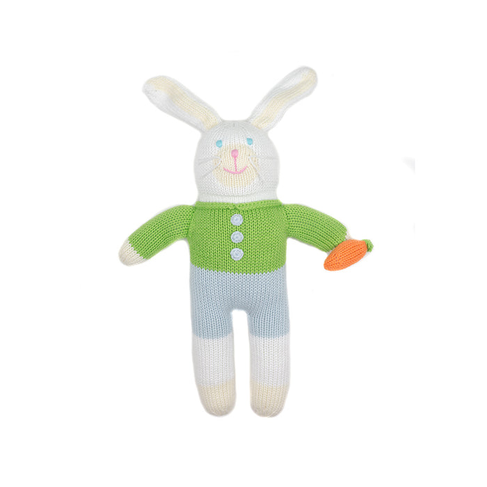 Hand Knit Green Bunny