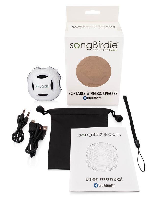 Gloss White speaker- songBirdie