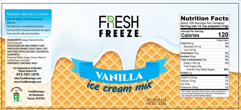 Fresh Freeze Vanilla Ice Cream Mix