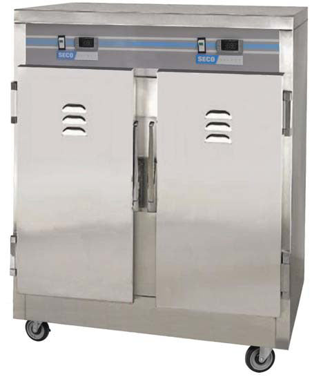 "Heavy duty heated holding transport cabinet for use with 12"" x 20"" pans."