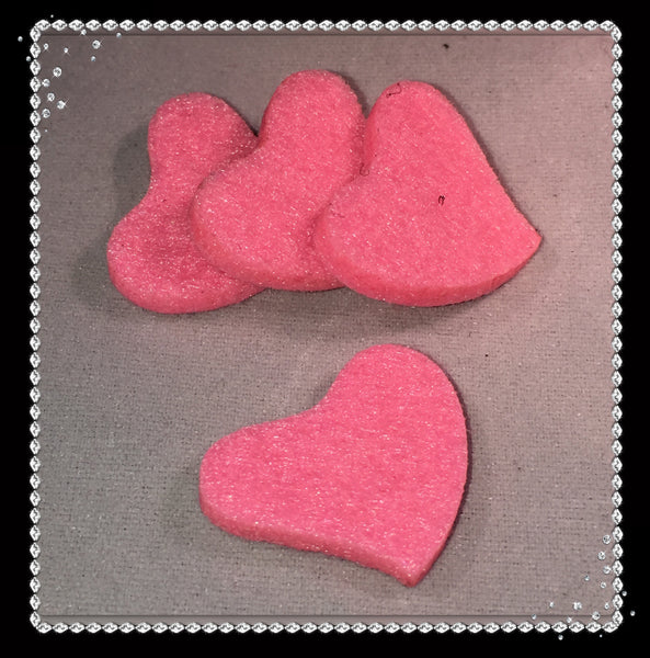 Slanted Heart Reusable Essential Oil Locket Pads in Pink