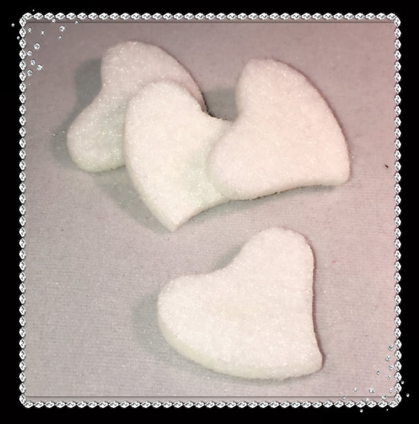 Slanted Heart Reusable Essential Oil Locket Pads in White