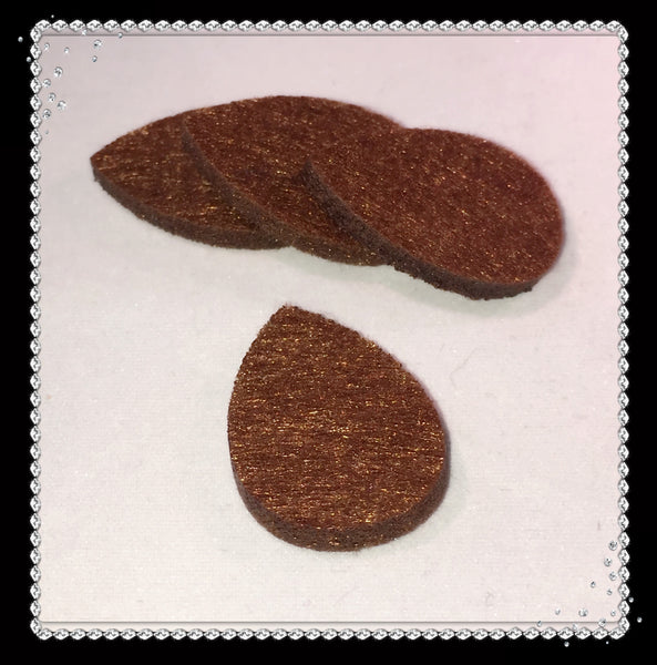 Tear Drop Reusable Essential Oil Locket Pads in Brown