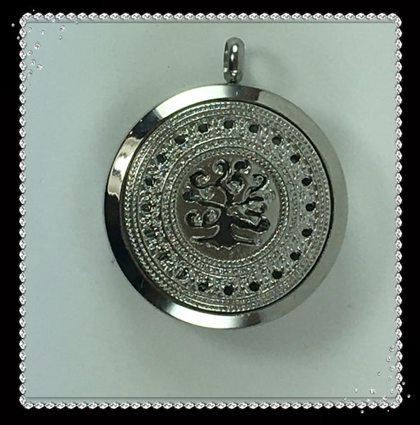 30mm Tree of Life Stainless Steel Locket with Twist Off Top