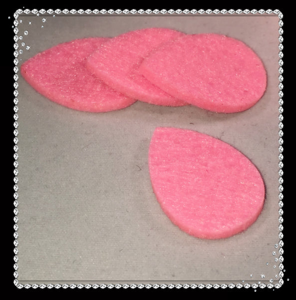 Tear Drop Reusable Essential Oil Locket Pads in Pink