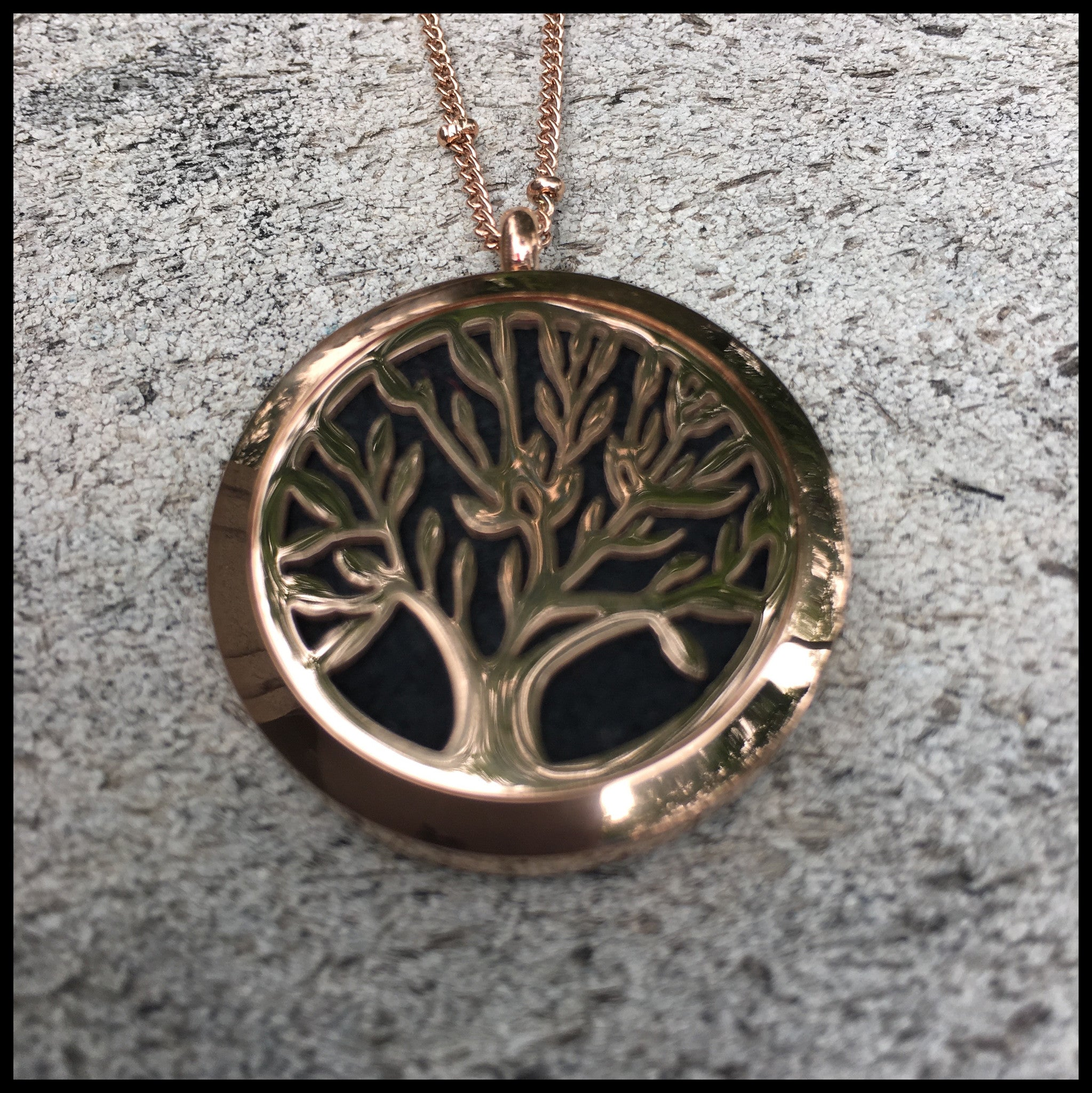 30mm Rose Gold Tree of Life Locket