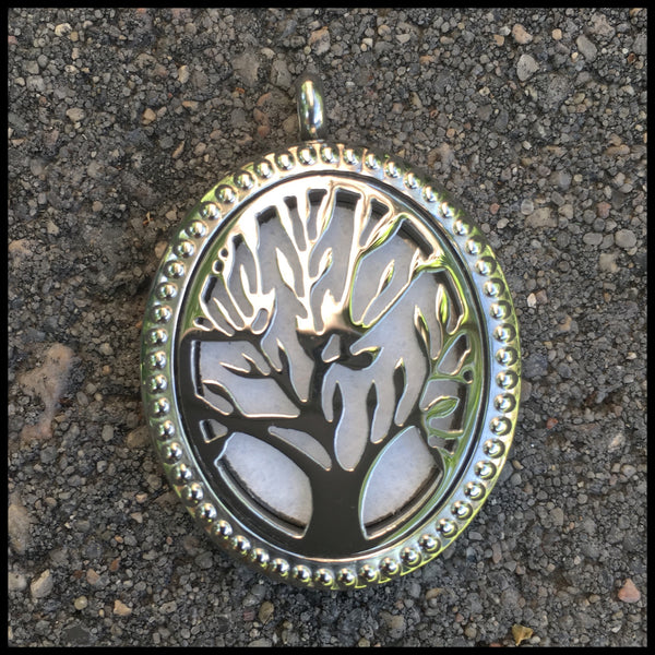 30mm Stainless Steel Oval Tree of Life Locket