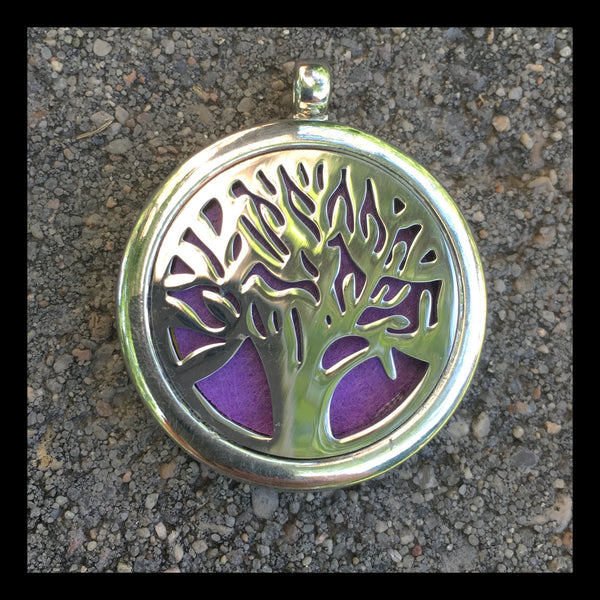 30mm Stainless Steel Round Tree of Life Locket