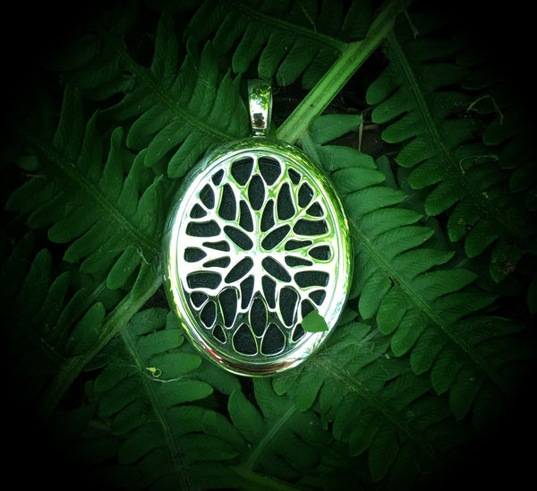32mm Stainless Steel Oval Essential Oil Diffuser Locket