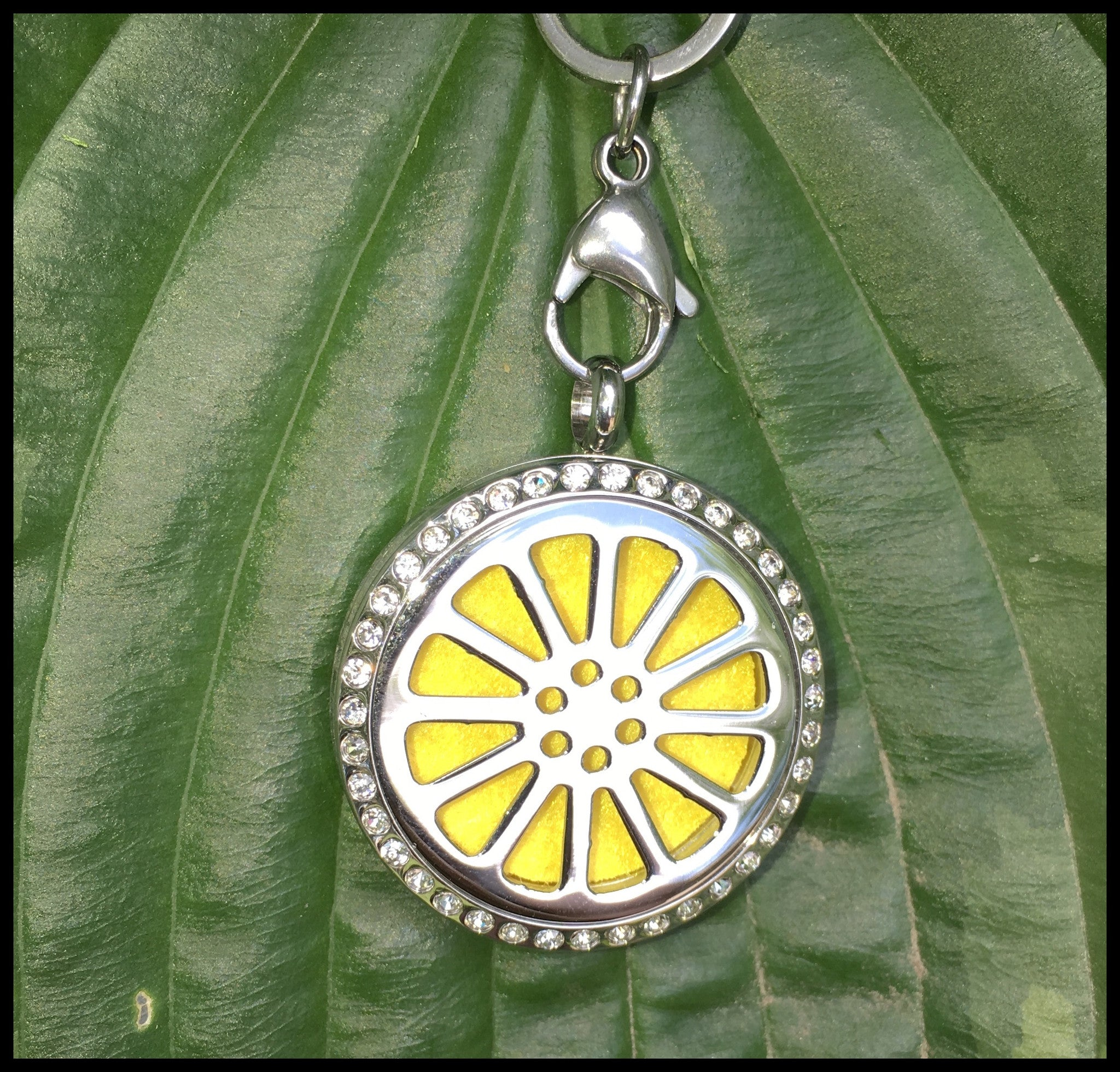 30mm Stainless Steel Round Lemon with Bling