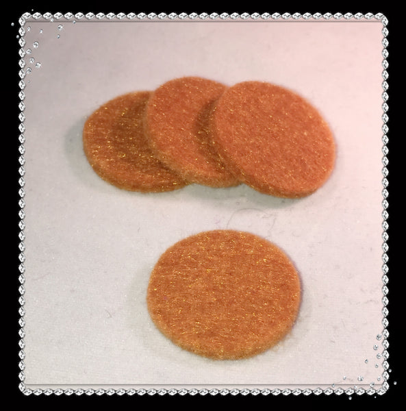 Round Reusable Essential Oil Locket Pads for 30mm and Larger in Brown