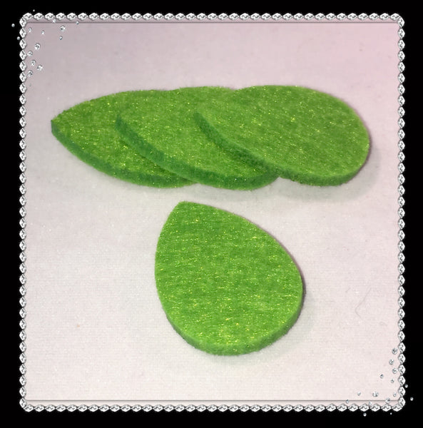 Tear Drop Reusable Essential Oil Locket Pads in Green