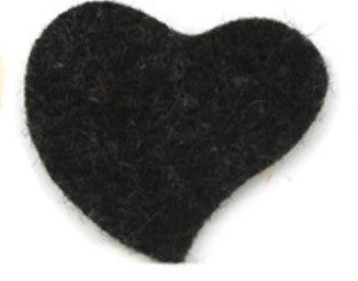Slanted Heart Reusable Essential Oil Locket Pads in Black