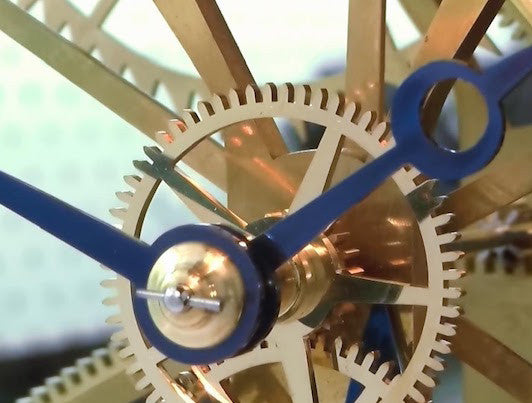 Awesome home made Large Wheel Skeleton Clock