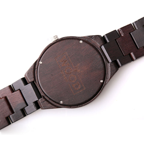 The Capitalist Ebony // All Wooden Watch