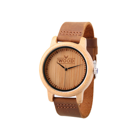 Beautiful Wood Watch - The Idealist Ivory Round
