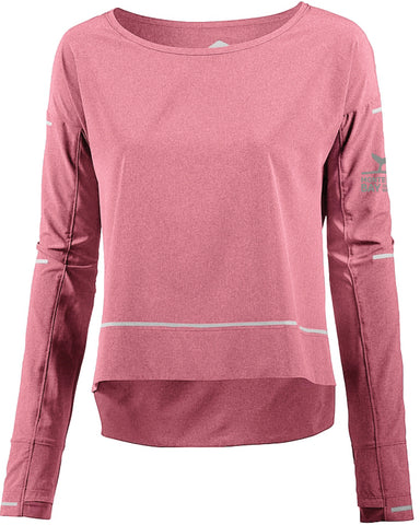 Monterey Bay Half Marathon Women's Long Sleeve Lite-Show Cover Up, Cordvan Heather - BSIM Store