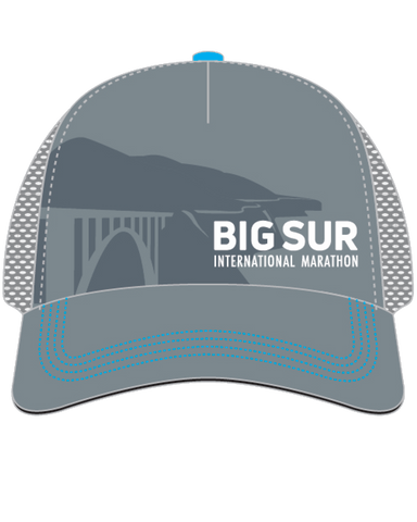 Big Sur International Marathon Technical Trucker - Grey - BSIM Store
