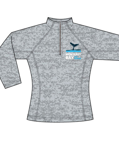 Monterey Bay Half Marathon Women's Performance 1/4 Zip, Grey Heather - BSIM Store