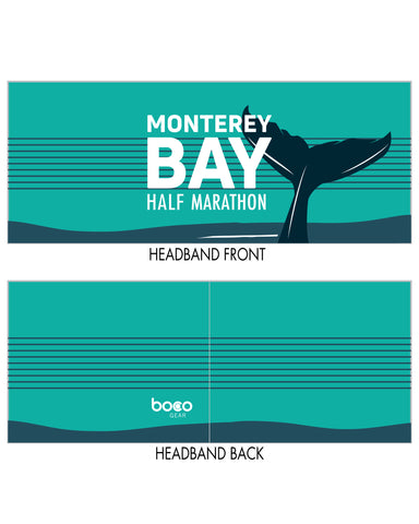 "Monterey Bay Half Marathon 4"" Single-layer Headband - BSIM Store"
