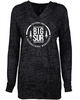 Big Sur Marathon Women's Lightweight Burnout Hoodie, Black - BSIM Store