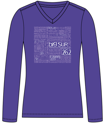 Big Sur Marathon 2019 Women's Long Sleeve Training Shirt - BSIM Store