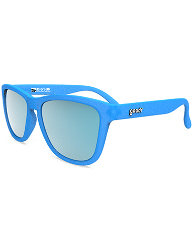 Big Sur International Marathon logo goodr sunglasses, Bright Blue - BSIM Store
