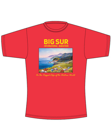 Big Sur International Marathon Short Sleeve Tee: Running on the Ragged Edge - BSIM Store